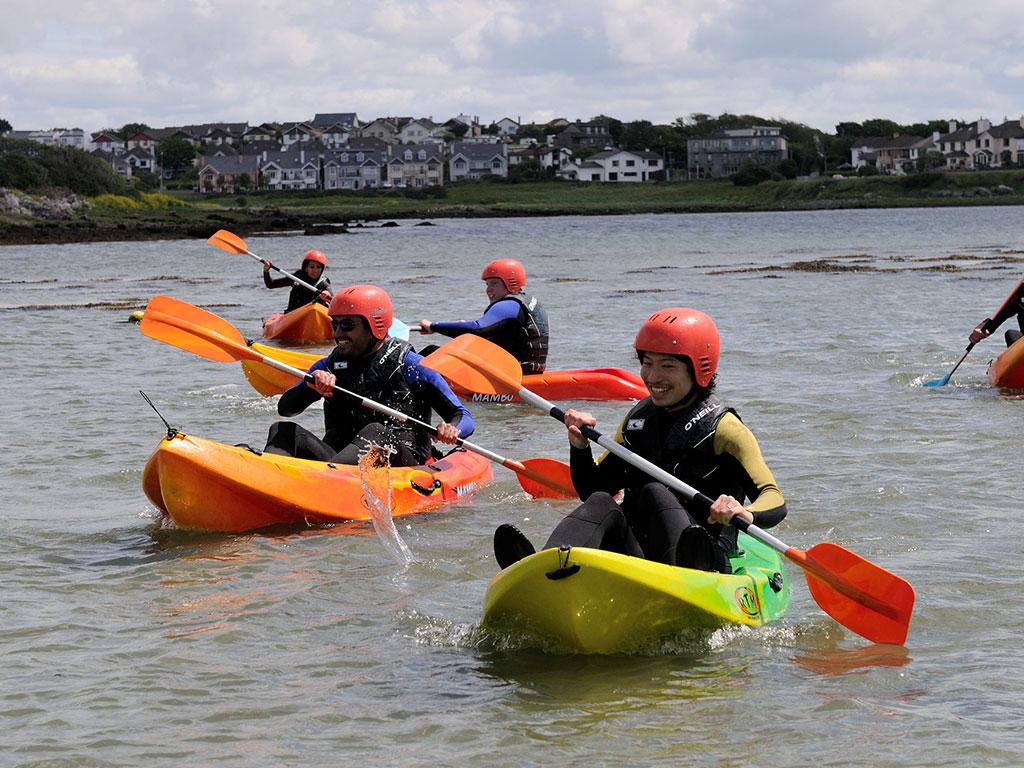 Galway- kayiaking at Rusheen Bay